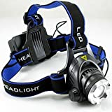 High Power 3W LED Headlamp Headlight - Lightweight, Comfortable And Weatherproof Flash Light/Torch - User-Friendly...