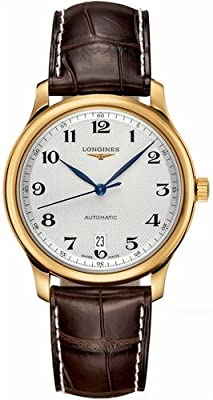 Longines Master Collection Automatic Silver Dial Brown Leather Mens Watch L26286783