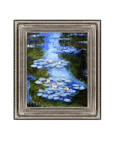 Claude Monet Water Lilies (Blue-Green) Hand-Painted Oil Reproduction