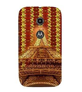 PrintVisa Travel Paris Eifel 3D Hard Polycarbonate Designer Back Case Cover for Motorola Moto E2