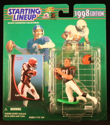 CARL PICKENS / CINCINNATI BENGALS 1998 NFL Starting Lineup Action Figure & Exclusive NFL Collector Trading Card