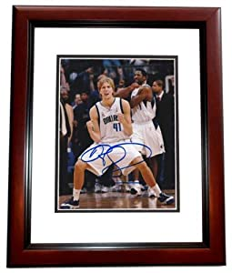 Dirk Nowitzki Autographed Hand Signed Dallas Mavericks 8x10 Photo - MAHOGANY CUSTOM... by Real Deal Memorabilia