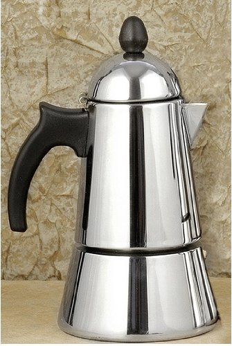 Konica 6-Cup Stainless Steel Stove Top Espresso Maker