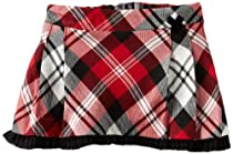Hartstrings Baby-Girls Newborn Pleated Plaid Skort, Black/Red, 3-6 Months