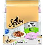 Sheba Fresh & Fine Katzenfutter Selektion von Land und Meer, 72 Beutel (72 x 50 g)