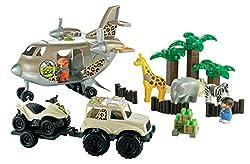 Ecoiffier Abrick Sos Safari Plane, Multi Color