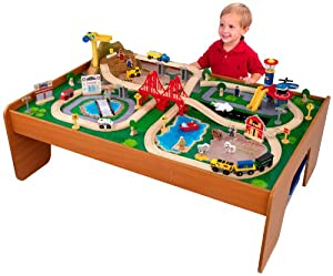 KidKraft Ride Around Train Set and Table