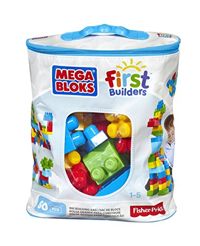 Mega Brands - First Builders de 60 piezas con bolsa ecológica, bolsa Clásica (Mattel DCH55)