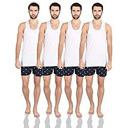 King George V Essex Plus Mens White Vest Pack of 4