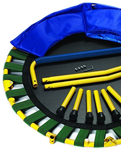 Portable-Foldable-Trampoline-36-Dia-Durable-Construction-Safe-for-Kids-with-Padded-Frame-Cover-and-Handle-1-Year-Warranty-Yellow
