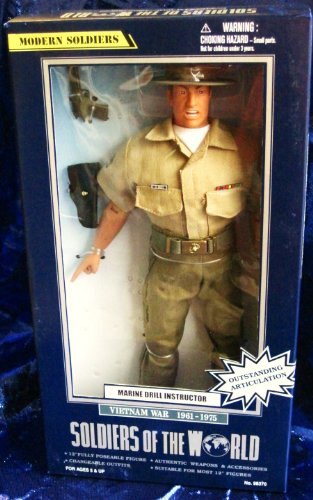 Buy Low Price Formative International Soldiers of the World Marine Drill Instructor Vietnam War 1961-1975 12″ Action Figure (B001CM3N36)