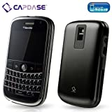 CAPDASE 日本正規品 BlackBerry Bold Alumor Metal Case with Screen Protector, Black ブラックベリーボールド メタルプロテクトカバー ブラック (液晶保護シート付き) MTBB9000-5111