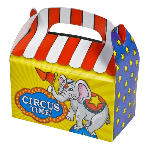 "1 Dozen 6.25"" Circus Treat Boxes"