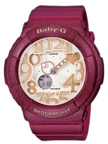 [CASIO] CASIO watch Casio CASIO baby-g baby G overseas model imports Neon Dial Series neon dial series ネオンイルミネーター 10 ATM water resistant watches watch dark red