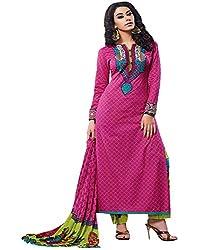 Lakshmi Fashion Creation Women's Cotton Dress Material ( Pink )