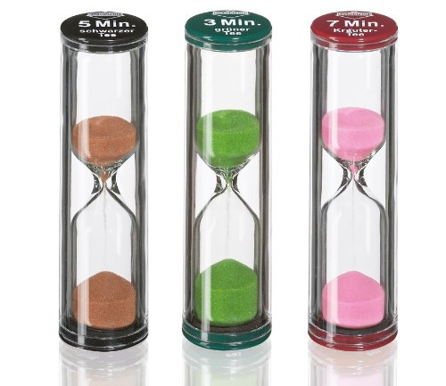 Kuchenprofi Sand Tea Timers, Assorted, Set of 3