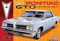 928 Polar Lights 64 Pontiac Gto Snap It 1/25 Scale Plastic Model Kit,Needs Assembly