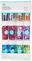 Martha Stewart Crafts Hexagonal Glitter, 12-Pack