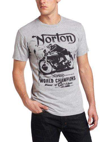 Fifth Sun Men's Norton Cycles Norton T-Shirt Athletic Heather Small