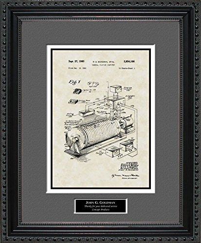 Early Computer Patent Art Wall Hanging | Computer Programmer Personalized Gift 11x14