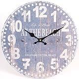 Nautical Clock 'at the beach' 34cm