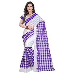 Morpankh enterprise Blue Cotton Saree ( cotton blue saree )