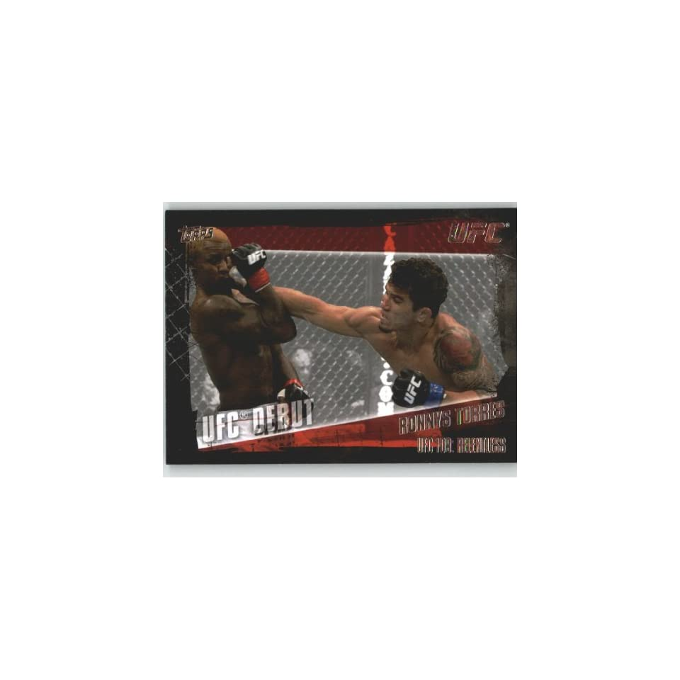 2010 Topps UFC Trading Card # 160 Ronnys Torres (Ultimate Fighting