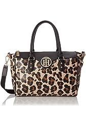 Tommy Hilfiger Leopard Shopper Shoulder Bag