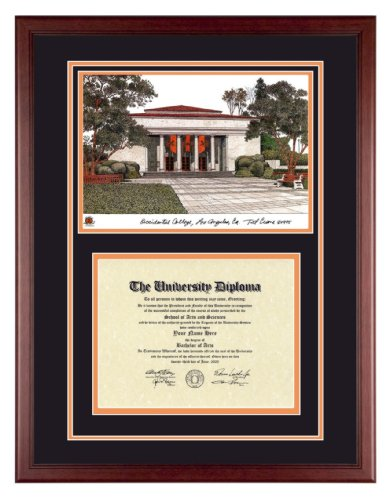 OCCIDENTAL COLLEGE Diploma Frame with Artwork in Classic Mahogany Frame