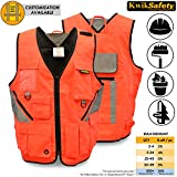 KwikSafety Reflective Tactical Utility Tool Vest | Waterproof Quick Dry Material with Ten Pockets | World Natural Disaster Volunteer, Search and Recuse Team, Emergency Crew Work Wear | L/XL