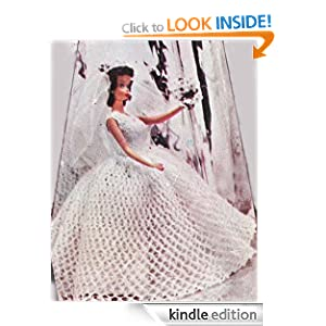 Crochet Bridal Gown Wedding Dress Pattern for 8-10-12-19 inch Dolls ...