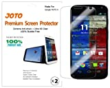 JOTO Prime HD Clear Bubble Free Screen Protector Film for Google Motorola Moto X Smartphone, Anti Fingerprint, Extreme Anti Scratch, Super Anti Shock (2 Pack)