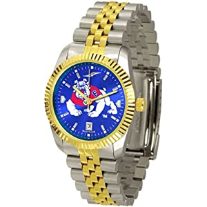 Fresno State Bulldogs NCAA AnoChrome Executive Mens Watch by SunTime