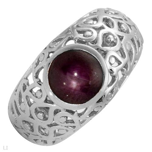 Ring With 3.20ctw Genuine Star ruby Well Made in 925 Sterling silver. Total item weight 6.2g (Size 9)