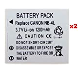 Neewer 2 Packs - High Power Nb-4L Replacement Battery For Your Canon Ixus 30 / 40 / 50 / 55 / 60 / 65 / 70 / 75 / 80 Is / I Zoom / I7 / Ixy Digital 55