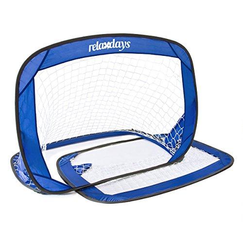 Dettagli su Relaxdays 10016739 Porte calcio per Bambini, Blu
