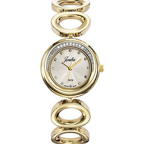 Joalia-631939-Orologio da donna con cinturino in metallo con quadrante, colore: dorato