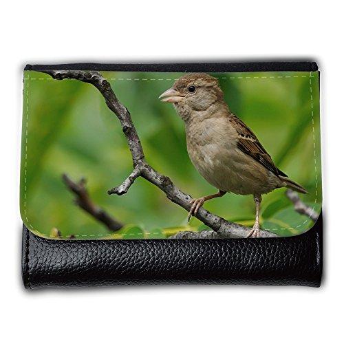 Cartera unisex // M00314182 Passero Ramo Uccello natura selvaggia // Medium Size Wallet