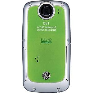 GE DV1-LG Waterproof/Shockproof 1080P Pocket Video Camera (Lime Green)