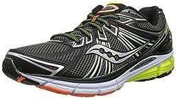 Saucony Men\'s Omni 13 Running Shoe,Black/Citron/Orange,10 M US