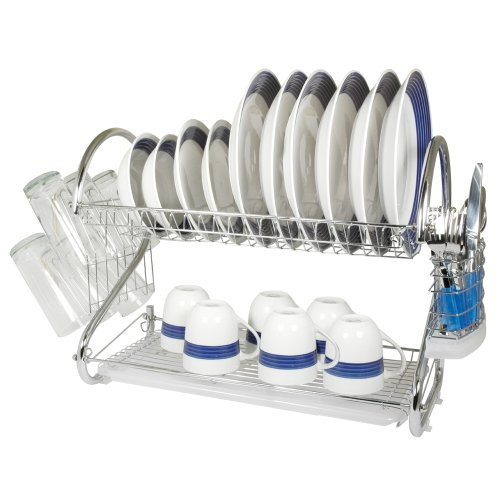 Better Chef DR-22 Chrome 2-Tier Dish Rack, 22-Inch