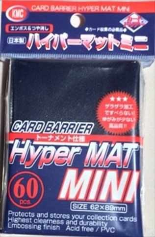 KMC Sleeves MHM1591 Deck Protectors Mini Hyper Blue, Pack - 60