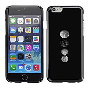 Omega Covers - Snap on Hard Back Case Cover Shell FOR Apple Iphone 6 Plus / 6S Plus ( 5.5 ) - Moon Art Lineup Space Black White