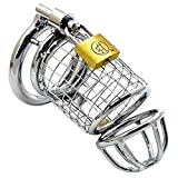 HuiSiFang® Males Apparatus Silver Cage Chastity Device (Ring 5cm)