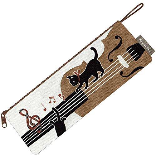 【黒猫ミィー】ペンケース(バイオリン)[227232]