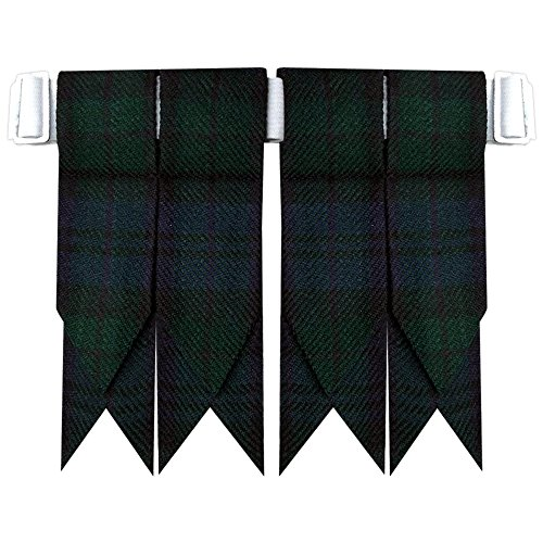Black Watch Tartan Scottish Flash Kilt Hose/Sock Flashes (Mens Black Kilt Hose compare prices)