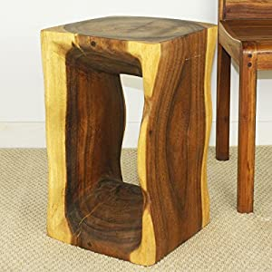 Natural wood end table 12 x 12 inch square x for 12 inch end table