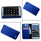 Compare i KitPit   PU Leather Wallet Flip Case Cover For Lava Xolo Q700 (BLUE) at Compare Hatke