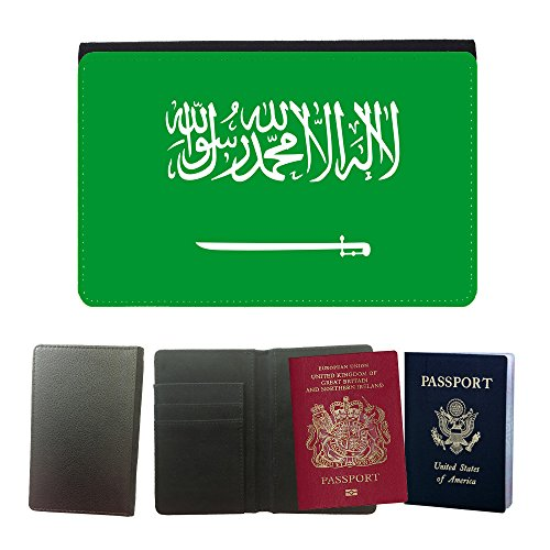 GoGoMobile Flip PU Leather Travel Passport Wallet Case with Flight Ticket Slots // V00001152 saudi arabian National Country Flag // Universal passport leather cover (Tickets Flights compare prices)