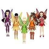 Disney Fairies Mini Doll Set - Legend of the Neverbeast - Tinker Bell Rosetta Iridessa Vidia Fawn